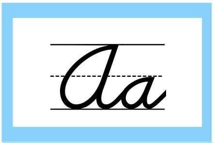アルファベット教室掲示用カードcursive alphabet for classroom1