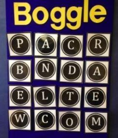 英語ゲームボグル教室掲示用大サイズ english game boggle big