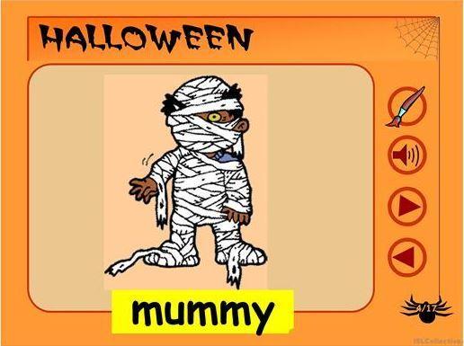 ハロウィン英単語指導用教材Halloween ppt1