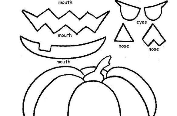 ハロウィンゲーム福笑い halloween worksheet