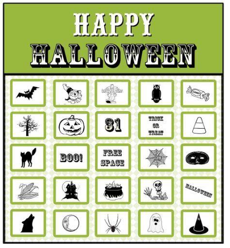 無料ハロウィンビンゴカードhalloween bingo cards1