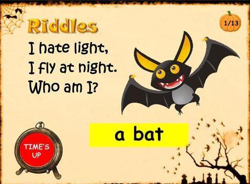 英語ハロウィンクイズ/なぞなぞ halloween riddles