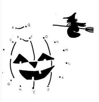 ハロウィンアルファベット点/線つなぎhalloween alphabet dot to dot