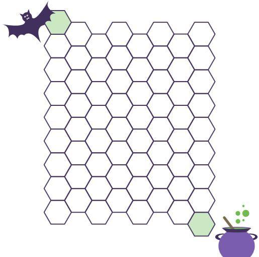 自分で作成ハロウィン版アルファベット迷路ワークシートhalloween maze worksheet