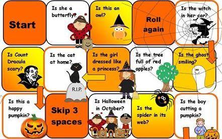 英語ハロウィンスゴロクゲームesl halloween boardgames2