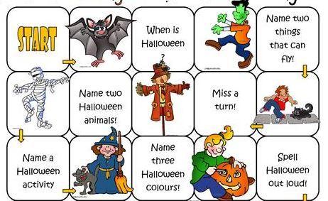 英語ハロウィンスゴロクゲームesl halloween boardgames