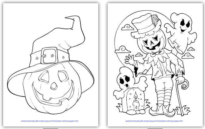 おうちでハロウィン塗り絵halloween colouring worksheet2