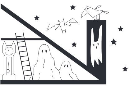 おうちでハロウィン塗り絵halloween colouring worksheet5