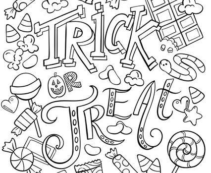 おうちでハロウィン塗り絵halloween colouring worksheet6