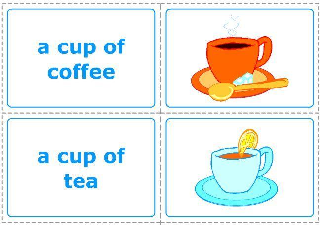 数えられない名詞の数え方練習カード uncountable nouns set