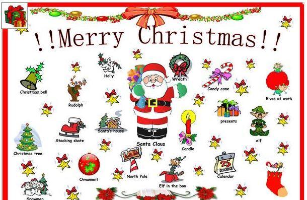 クリスマス英単語ポスターChristmas poster
