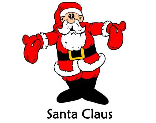 クリスマス英単語絵カードイラストChristmas Flashcards