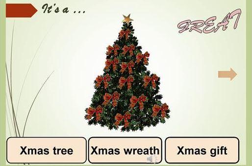クリスマス英単語学習用パワーポイント教材Christmas Basic Vocabulary Powerpoints4