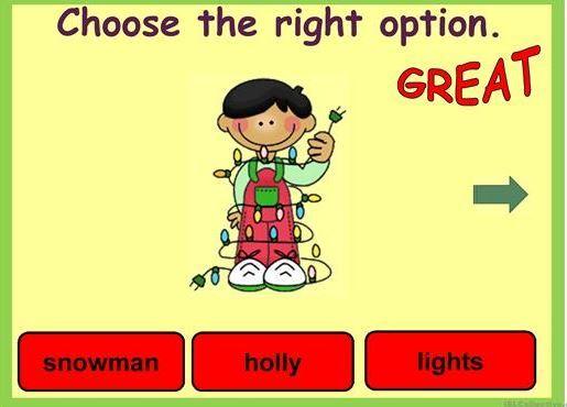 クリスマス英単語学習用パワーポイント教材CHRISTMAS - VOCABULARY powerpoint3