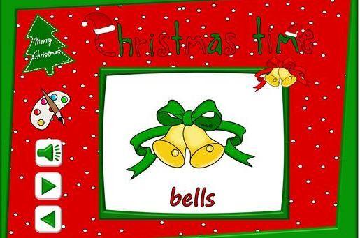 クリスマス英単語学習用パワーポイント教材Christmas time vocabulary powerpoint2