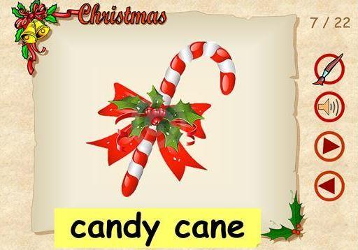 クリスマス英単語学習用パワーポイント教材CHRISTMAS VOCABULARY Powerpoints1