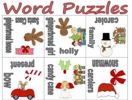クリスマス英単語学習用ワードパズルchristmas words puzzles