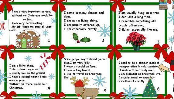 クリスマス英単語なぞなぞchristmas riddles