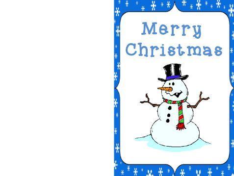 無料クリスマスカードテンプレートChristmas card colour4