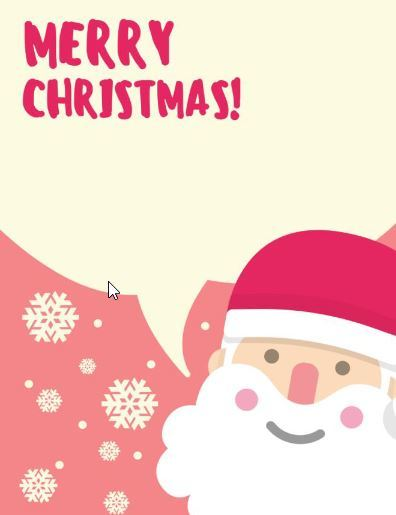 無料クリスマスカードテンプレートChristmas card colour2