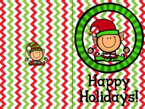 無料クリスマスカードテンプレートChristmas card colour1