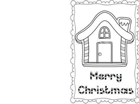 簡単色塗りクリスマスカードテンプレートcolouring christmas card7