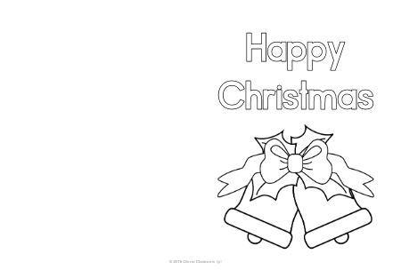簡単色塗りクリスマスカードテンプレートcolouring christmas card4