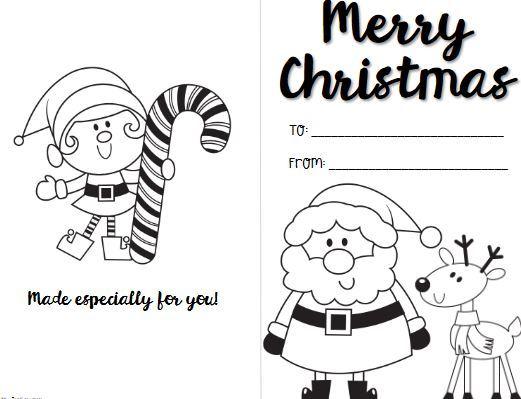 簡単色塗りクリスマスカードテンプレートcolouring christmas card3