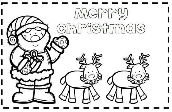 簡単色塗りクリスマスカードテンプレートcolouring christmas card2