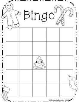 クリスマスビンゴカード christmas bingo cards4