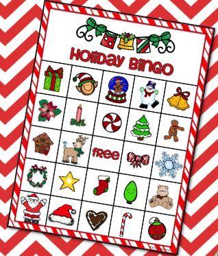 クリスマスビンゴカード christmas bingo cards3