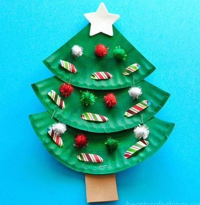 クリスマス工作クリスマスツリーchristmas craft christmas tree1