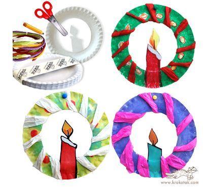 紙皿クリスマスリースchristmas wreath