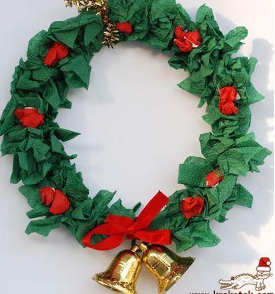 クリスマスリース色チリ紙christmas wreath2