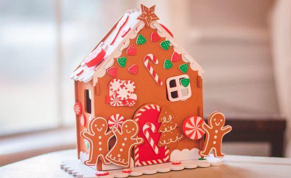 ジンジャーブレッドハウス作成 gingerbread house