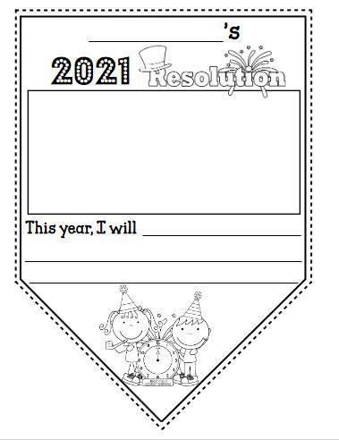 新年の抱負を英語で書こうテンプレートNew Year's resolution3