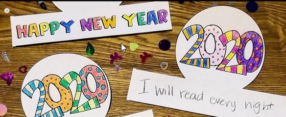 新年の抱負を英語で書こうテンプレートNew Year's resolution1