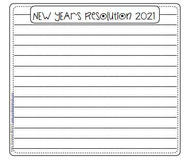 新年の抱負英作文テンプレートNewYear's resolution worksheet14