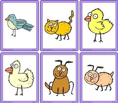 動物絵カードanimals mini flashcards