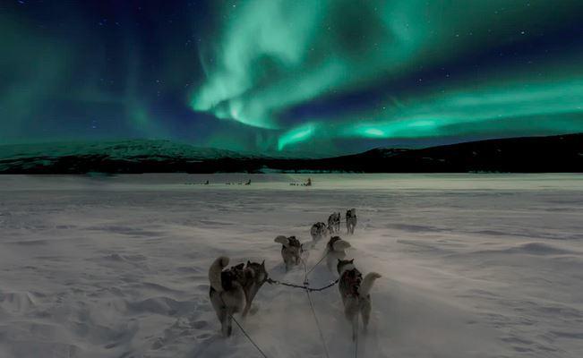 Northan light at night