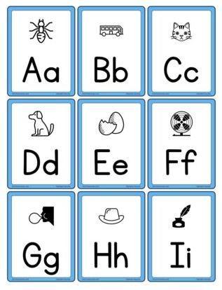 アルファベットカード大文字小文字Alphabet cards