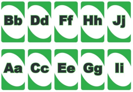 英語アルファベットUNOカードalphabet uno cards