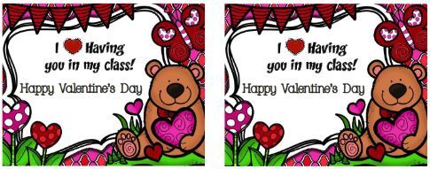 バレンタインカードテンプレートValentine's card9