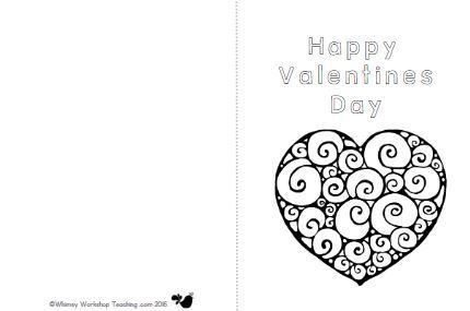 バレンタインカードテンプレートValentine's card6
