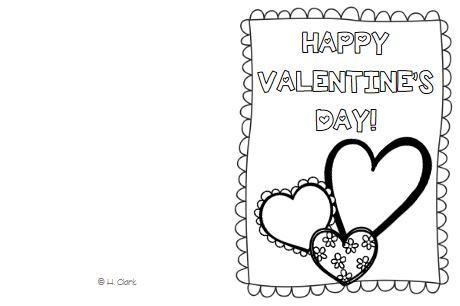バレンタインカードテンプレートValentine's card5