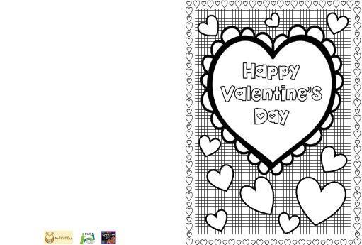 バレンタインカードテンプレートValentine's card3