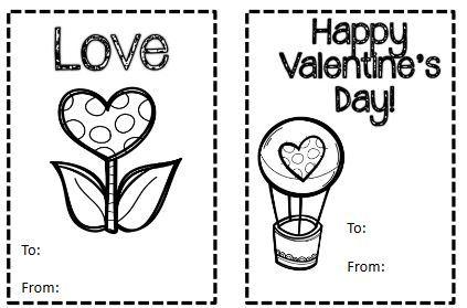 バレンタインカードテンプレートValentine's card1