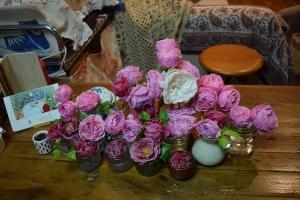 テーブルのバラ