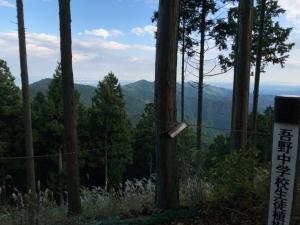 つつじ山から飯盛峠のNACK5電波塔を望む