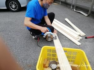 カレントブルー柵作成DIY (5)
